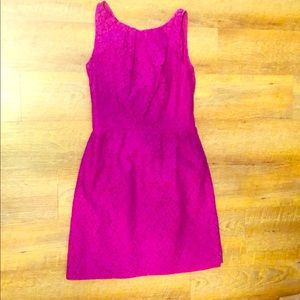 Jasmine Bridesmaid Dress Fuchsia Tea Length